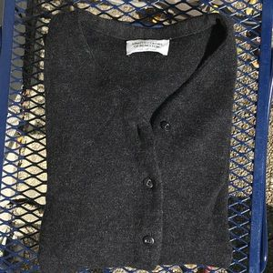 """Vintage """"New Wool""""Charcoal Cardigan made in Italy"""